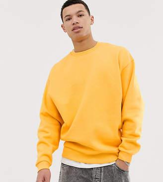 ec2b0cfcf0530c Asos Design DESIGN Tall oversized sweatshirt in yellow