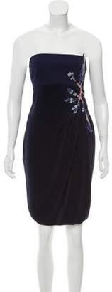 Giorgio Armani Strapless Embellished Dress