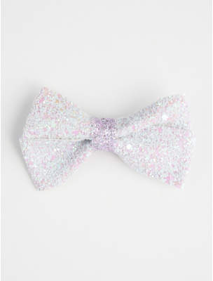 George Purple Glittering Bow Hair Clip
