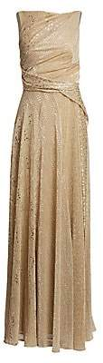 Talbot Runhof Women's Sleeveless Embellished Sash Gown