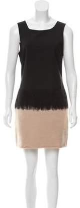 Alice + Olivia Wool Sleeveless Mini Dress