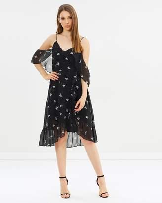 DECJUBA Madeleine Ruffle Wrap Dress