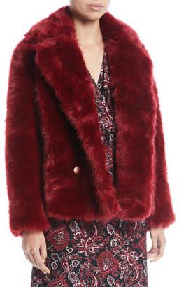 MICHAEL Michael Kors Faux-Fur Pea Coat