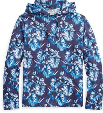 Ralph Lauren Floral Cotton Hooded T-Shirt