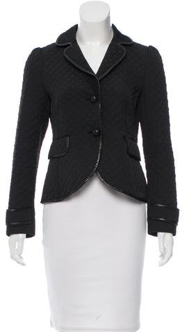 RED Valentino Red Valentino Leather-Trimmed Quilted Jacket