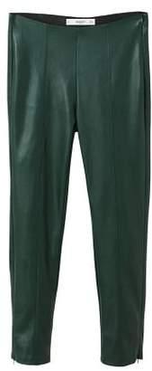 MANGO Seam-detail slim-fit trousers