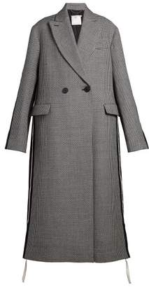 Stella McCartney Oversized Double Breasted Houndstooth Coat - Womens - Grey
