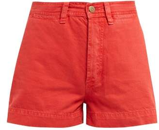 MiH Jeans Caron High Rise Denim Shorts - Womens - Red