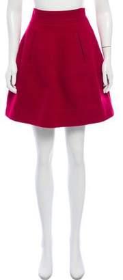 Theory Wool A-Line Skirt