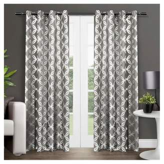 "Modo Exclusive Home Metallic Geometric Window Curtain Panel Pair (54""x96"") Exclusive Home"