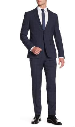 Nordstrom Wool Pane Trim Suit