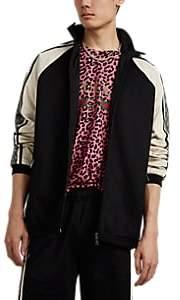 Gucci Men's Logo-Striped Tech-Jersey Track Jacket - Black