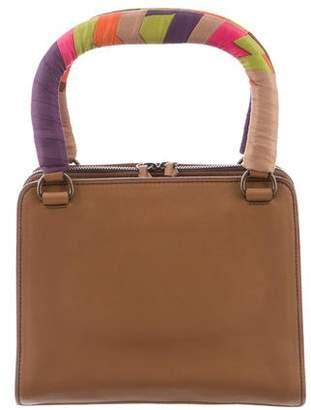 Miu Miu Scarf-Accented Handle Bag