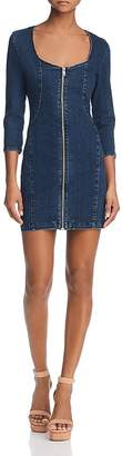 GUESS Zip-Front Body-Con Denim Dress