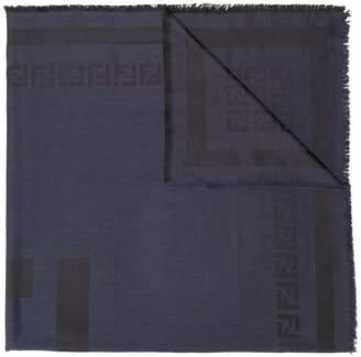 Fendi fringed edge scarf
