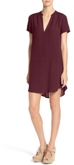 Women's Lush Split Neck Shift Dress