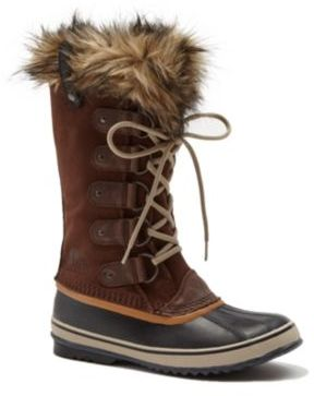 Joan Of Arctic Faux Fur-Trimmed Suede & Leather Lace-Up Boots $180 thestylecure.com