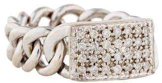 Sydney Evan 14K Diamond Chain-Link Ring