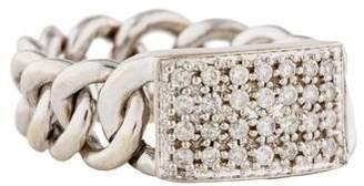 Sydney Evan 14K Diamond Chain-Link Ring