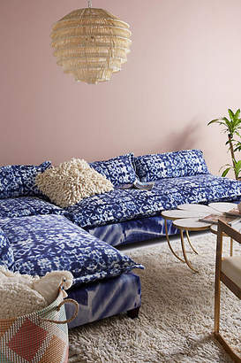 Anthropologie Shibori-Printed Three-Piece Tassa Sectional