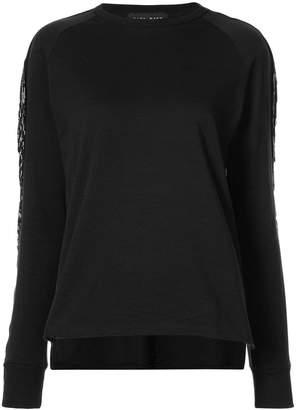 Baja East embellished sleeve sweatshirt