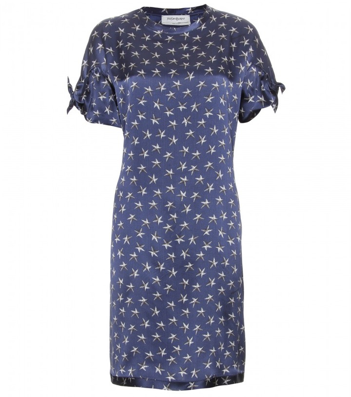 Yves Saint Laurent SILK PRINT SHIFT DRESS