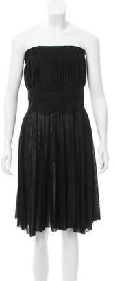 Givenchy Strapless Pleated Dress