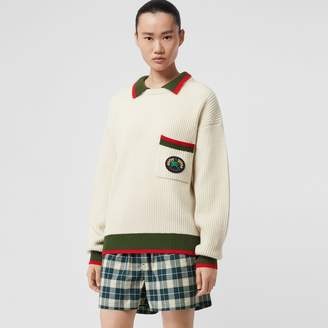 Burberry Rib Knit Wool Cashmere Sweater