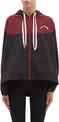 The Upside 'Ash' flared back colourblock hooded oversized performance jacket