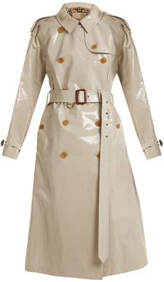 Burberry Laminated cotton-gabardine trench coat