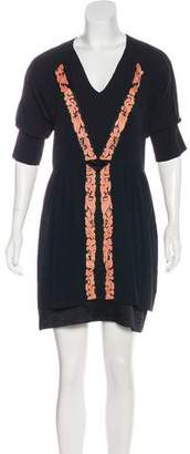 Mayle Embroidered Silk Dress