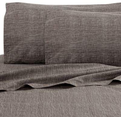 Haze Mesh King Fitted Sheet in Dusk