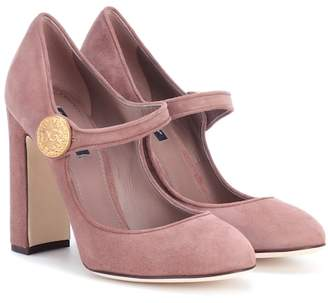 Dolce & Gabbana Mary-Jane suede pumps