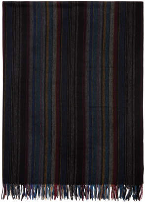 Paul Smith Multicolor Striped Blanket Scarf