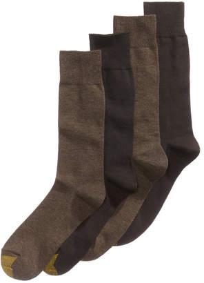 Gold Toe Men's Socks, Dress Flat Knit 4 Pack, Created for Macy's