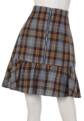 Rirandture (リランドチュール) - リランドチュール チェック切替えAラインスカート(カラシ)