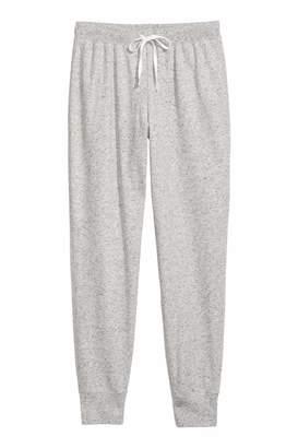 H&M Pajama Pants - White melange/stars - Women