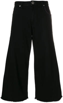 Sonia Rykiel wide flare cropped trousers