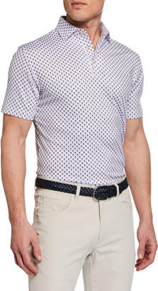 Peter Millar Men's Taxes Skull-Print Jersey Polo Shirt