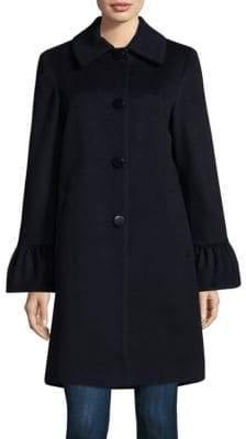 Sofia Cashmere Shirred Sleeve Coat