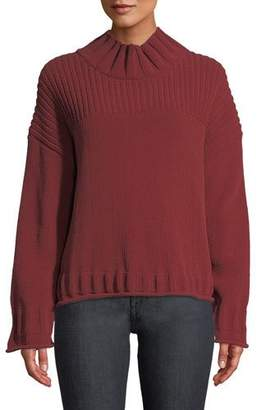 Elizabeth and James Bo High-Neck Long-Sleeve Pullover Sweater