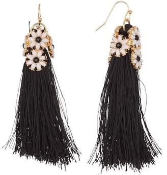 Leslie Danzis Daisy Floral Tassel Earrings