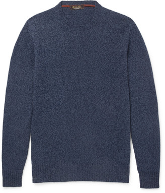 Loro Piana Slim-Fit Melange Baby Cashmere Sweater