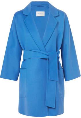 Max Mara Wool And Cashmere-blend Coat - Bright blue