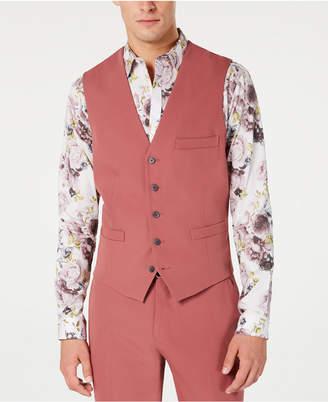 INC International Concepts Inc Men Slim-Fit Dusty Red Vest