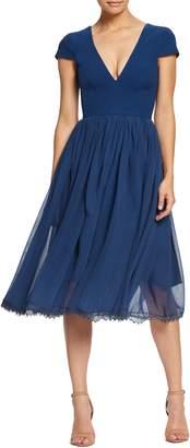 3afb9158458c Dress the Population Corey Chiffon Fit   Flare Dress
