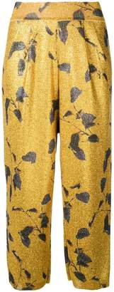 Mes Demoiselles floral cropped trousers