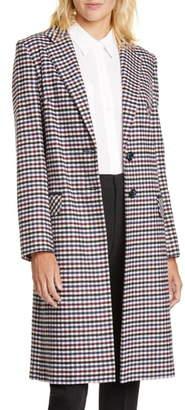 Helene Berman College Check Long Coat