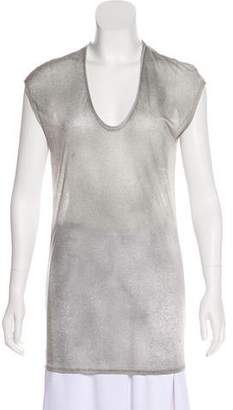 Helmut Lang Sleeveless Scoop Neck Top