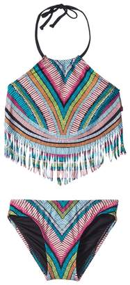 Hobie Kids Weave Rider Fringe Tankini and Hipster Set Girl's Swimwear Sets
